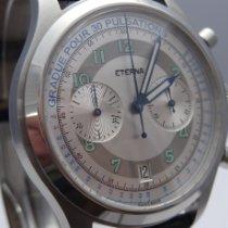 Eterna Heritage Pulsometer Steel 42,5mm Silver Arabic numerals