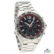 TAG Heuer Formula 1 Quartz Steel 43mm Black No numerals