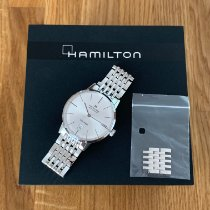 Hamilton Intra-Matic pre-owned 38mm Silver Date Steel