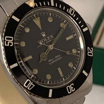 Rolex Submariner (No Date) Stål Sort Ingen tal