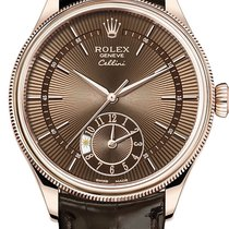 Rolex Cellini Dual Time Rose gold 39mm Brown No numerals United States of America, California, Los Angeles