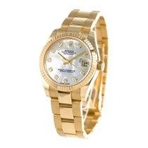 Rolex Datejust Жёлтое золото 36mm Белый