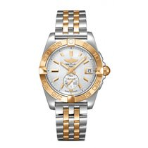 Breitling Galactic 36 Gold/Steel 36mm Mother of pearl No numerals