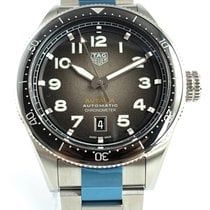 TAG Heuer Autavia Steel 42mm Black Arabic numerals