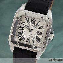Cartier Santos 100 Acier 38.5mm Argent