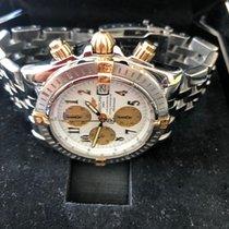 Breitling Chronomat Evolution begagnad 43.7mm Vit Kronograf Dubbelkronograf Datum Stål