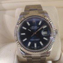 Rolex Datejust II Stahl 41mm Blau Keine Ziffern