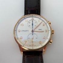 IWC Red gold Automatic Silver Arabic numerals 40.9mm pre-owned Portuguese Chronograph
