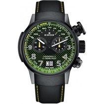 Edox Chronorally Titanium 48mm Green
