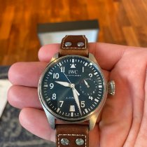 IWC Steel Automatic Blue Arabic numerals 46mm pre-owned Big Pilot