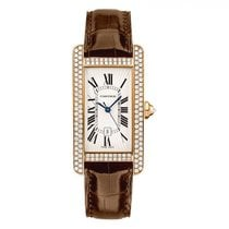 Cartier Rose gold Automatic 41.6mm pre-owned Tank Américaine