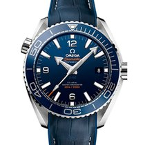 Omega Seamaster Planet Ocean Steel 43.5mm Blue Arabic numerals United Kingdom