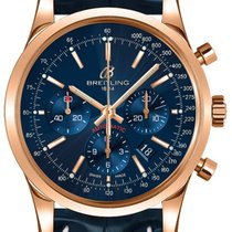 Breitling Transocean Chronograph Rose gold 43mm Blue United States of America, New York, New York