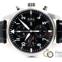 IWC Pilot Chronograph Acero 43mm Negro Arábigos España, Madrid