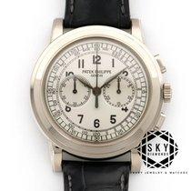 Patek Philippe Chronograph Oro blanco 42mm Plata Arábigos