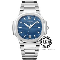 Patek Philippe Steel Automatic Blue No numerals 35.2mm new Nautilus