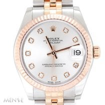 Rolex Lady-Datejust Gold/Steel 31mm Silver