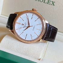 Rolex Cellini Time Rose gold 39mm White No numerals