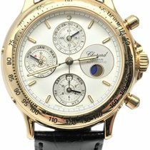 Chopard Classic pre-owned 40mm White Moon phase Chronograph Date Tachymeter Leather