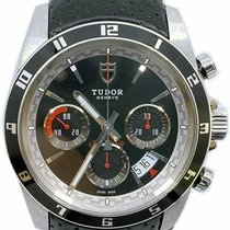 Tudor Grantour Chrono pre-owned 42mm Black Chronograph Date Leather