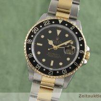 Rolex GMT-Master II Zlato/Zeljezo 40mm Crn