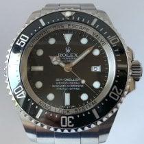 Rolex Stahl Automatik Schwarz Keine Ziffern 44mm gebraucht Sea-Dweller Deepsea