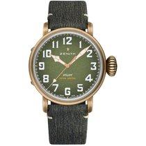 Zenith Bronze Automatic Green Arabic numerals 45mm new Pilot Type 20