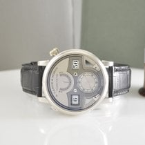 A. Lange & Söhne Zeitwerk pre-owned 44.2mm Silver Minute repeater Leather
