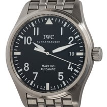 IWC Pilot Mark pre-owned 39mm Black Date Fold clasp