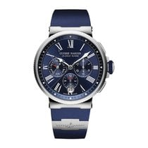 Ulysse Nardin Marine Chronograph Steel 43mm Blue United States of America, New Jersey, Englewood
