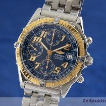 Breitling Chronomat begagnad 39mm Blå Kronograf Datum Stål