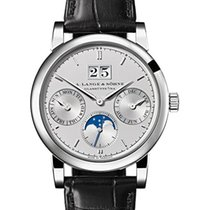 A. Lange & Söhne Platinum Manual winding Silver 38.5mm new Saxonia