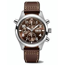 IWC Pilot Double Chronograph IW371808 New Steel 44mm Automatic