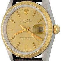 Rolex Oyster Perpetual Date Stahl 34mm Champagnerfarben Keine Ziffern