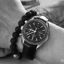 Omega Or rose Remontage automatique Noir Sans chiffres 44.2mm occasion Speedmaster Professional Moonwatch