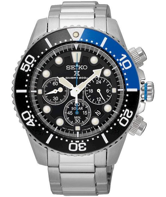 Seiko Uhren Herrenuhr Chronograph Solar SSC017P1