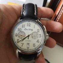 Breitling Transocean Chronograph 1915 Acier 43mm Argent France, deuil la barre