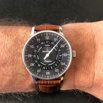 Meistersinger Pangaea Day Date Steel 40mm Black Arabic numerals