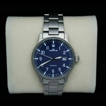 Fortis Flieger Steel 40mm Blue Arabic numerals