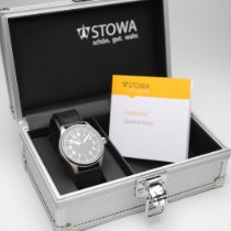 Stowa new Manual winding Display back Central seconds Luminous numerals Luminous hands Only Original Parts 40mm Steel Sapphire crystal
