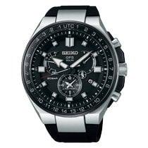 Seiko Astron GPS Solar Chronograph Titanio 46.7mm Nero