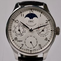 IWC Platine Remontage automatique Blanc Arabes 44,2mm occasion Portuguese Perpetual Calendar