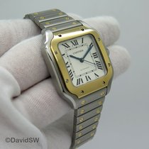 Cartier Santos (submodel) pre-owned 35.1mm Silver Gold/Steel