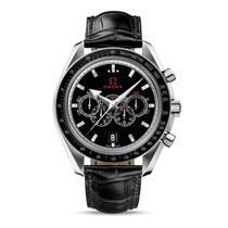 Omega Speedmaster Broad Arrow Steel 44.2mm Black No numerals United States of America, New York, New York