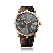 Roger Dubuis Rose gold Automatic Grey Roman numerals 42mm new Excalibur
