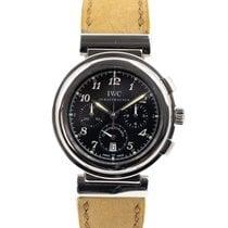IWC Da Vinci Chronograph gebraucht 37mm Schwarz Chronograph Datum Leder