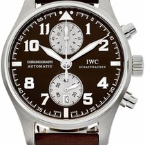 IWC IW387806 Steel Pilot Spitfire Chronograph 43mm pre-owned United States of America, New York, New York