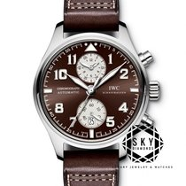 IWC Pilot Spitfire Chronograph Steel 43mm Brown Arabic numerals United States of America, New York, New York