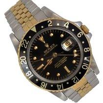Rolex GMT-Master Guld/Stål 40mm Sort Ingen tal