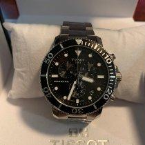 Tissot Seastar 1000 pre-owned 45.5mm Black Chronograph Date Steel